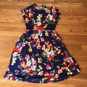 Floral ASOS Maternity Dress, Size 6